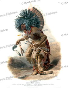 Pehriska-Ruhpa, a Minnetaree warrior in the costume of the Dog dance, Karl Bodmer, 1843 | Photos and Images | Travel