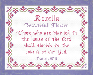 Name Blessings - Rozella | Crafting | Cross-Stitch | Other