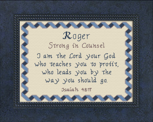 Name Blessings - Roger 3 | Crafting | Cross-Stitch | Other