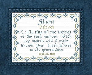 Name Blessings - Shani | Crafting | Cross-Stitch | Other