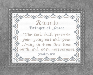 Name Blessings - Ricardo | Crafting | Cross-Stitch | Other