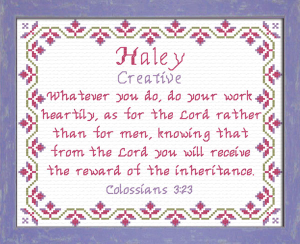 Name Blessings - Haley | Crafting | Cross-Stitch | Other