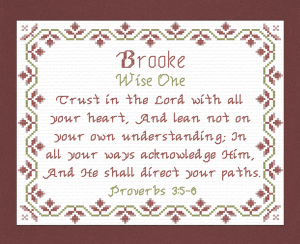 Name Blessings - Brooke 2 | Crafting | Cross-Stitch | Other