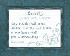Name Blessings - Beverly | Crafting | Cross-Stitch | Other