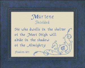 Name Blessings - Martene | Crafting | Cross-Stitch | Other