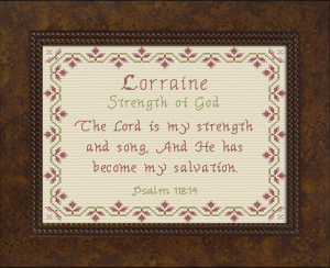 Name Blessings - Lorraine | Crafting | Cross-Stitch | Other
