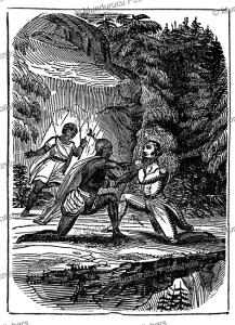 pocahontas saving john smith, j. fennimore cooper, 1846