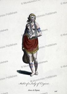 habit of a lady of virginia, 1585
