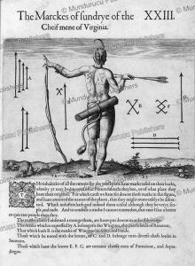 tattooed chief of virginia, john white, 1590