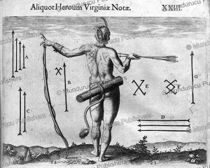 tattoo marks of the different chiefs of virginia, theodoor de bry, 1590