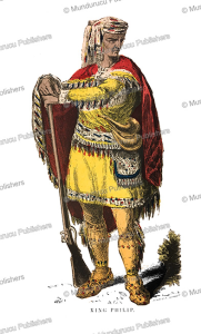metacomet or king philip (1638–1676), a native chief of virginia, s.g. whitney, 1853