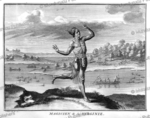 shaman or magician of virginia, bernard picart, 1735
