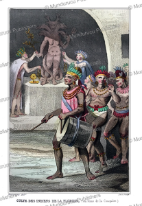American Indians worshipping an idol, Florida, Demoraine, 1839 | Photos and Images | Travel