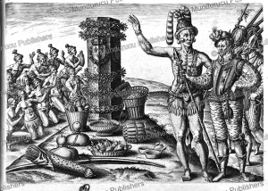 The Natives of Florida Worship the Column Erected by Captain Ribaut, Theodoor de Bry, 1591 | Photos and Images | Travel