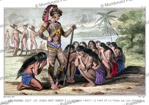 Women plea for the Timicuan chief for revenge, Demoraine, 1839 | Photos and Images | Travel