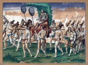 Natives Americans carrying their queen, Florida, Theodoor de Bry, 1591 | Photos and Images | Travel