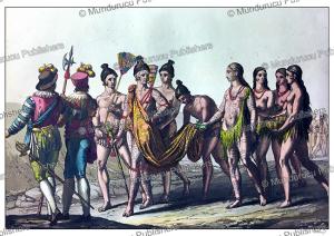 the timucua king and queen take a walk, gallo gallina, 1816