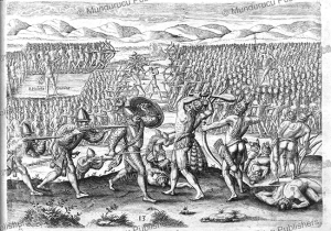 How King Otina with the help of the French defeats his enemy Patanou, Theodoor de Bry, 1591 | Photos and Images | Travel