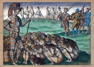 Women pleading the king for revenge, Florida, Theodoor de Bry, 1591 | Photos and Images | Travel