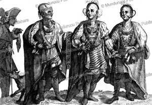cherokee and creek chiefs in london, 1762