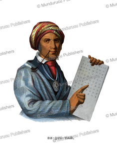 sequoyah, the inventor of the cherokee alphabet, thomas mckenney, 1872