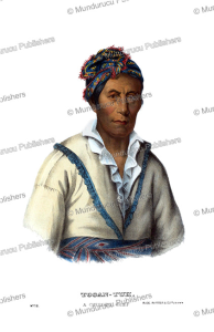tooantuh (spring frog), a cherokee chief, thomas mckenney, 1872