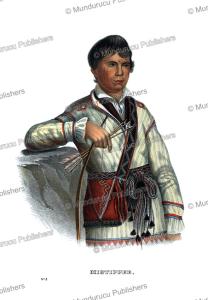 mistippee, the son of yoholo micco, a creek chief, thomas mckenney, 1872