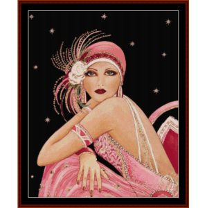 Glamour Girl in Pink - Vintage Art cross stitch pattern by Cross Stitch Collectibles | Crafting | Cross-Stitch | Other