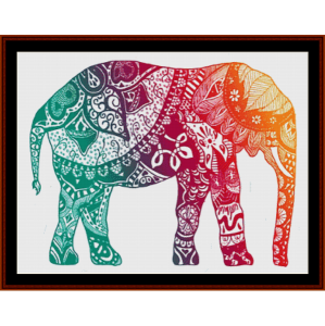 elephant mandala i - cross stitch pattern by cross stitch collectibles