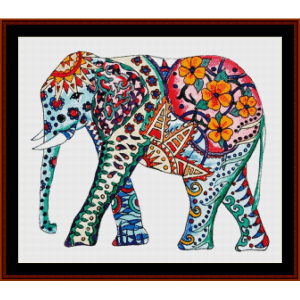 elephant mandala ii - cross stitch pattern by cross stitch collectibles
