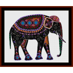 elephant mandala iii - cross stitch pattern by cross stitch collectibles