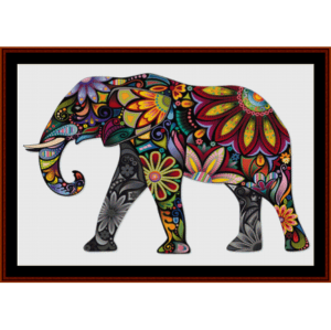 elephant mandala iv - cross stitch pattern by cross stitch collectibles
