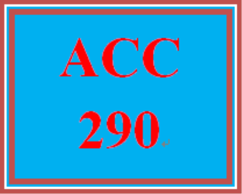 Second Additional product image for - ACC 290 Week 2 Discussion