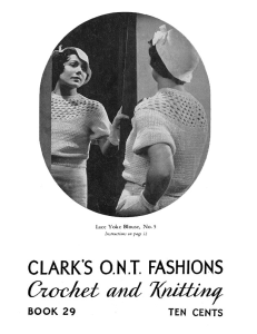Fashions Crochet and Knitting | Book No. 29 | The Spool Cotton Company DIGITALLY RESTORED PDF | Crafting | Crochet | Other