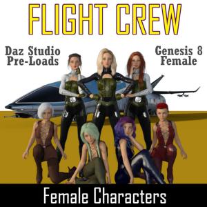 flight crew character pre-loads for genesis 8 female (g8f)