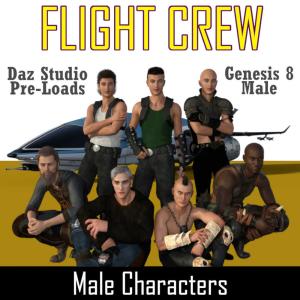 flight crew character pre-loads for genesis 8 male (g8m)