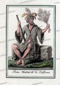 Medicine man of California, Jacques Grasset de Saint-Sauveur, 1795 | Photos and Images | Travel