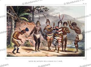 savages dancing at the st jose mission, california, jean baptiste debret, 1835