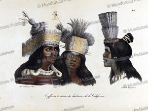 head dresses of dancers of california, ludwig choris, 1822