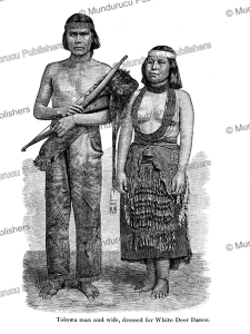 Tolowa man and woman dressed for the White Deer Dance, engraved by Henry Hobart Nichols, 1877 | Photos and Images | Travel