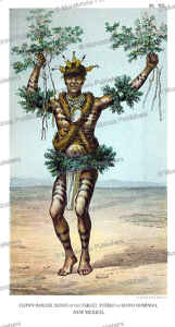 clown dancer of the tablet, pue´blo of new mexico, john g. bourke, 1884