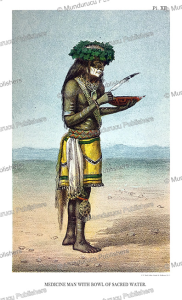 Moqui Medicine man with bowl with sacred water, John G. Bourke, 1884 | Photos and Images | Travel