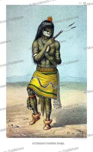 moqui medicine man-attendant fanning snake, john g. bourke, 1884