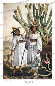 Papagos Indians, Arthur Schott, 1857 | Photos and Images | Travel