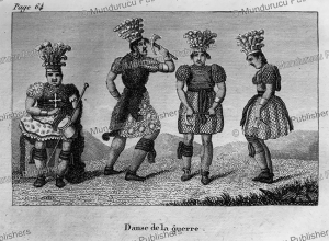 war dance of native americans, canada, d. dainville, 1821