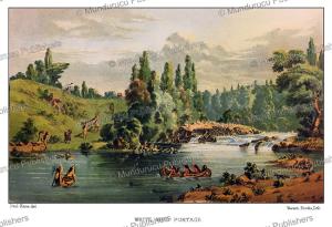 white mud portage, winnipeg river, canada, paul kane, 1859