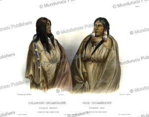 woman of the snake tribe and cree woman, karl bodmer, 1840