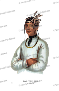caatousee, an ojibwa indian, thomas mckenney, 1872