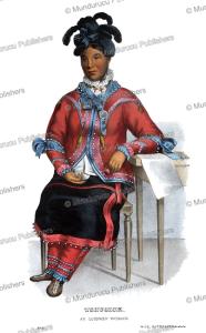 tshusick, an ojibwa woman, thomas mckenney, 1872