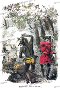 Border encounter with Delaware Indians, S.G. Whitney, 1853 | Photos and Images | Travel